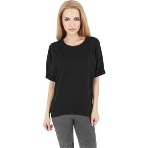 Urban Classics Ladies Short Sleeve Terry Crew Black TB1052