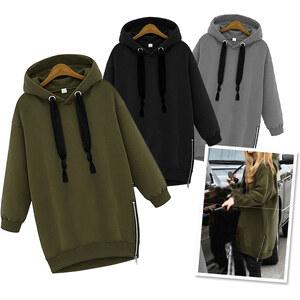 Lesara Sweatshirt oversize avec zips