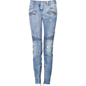 Balmain Distressed Biker Jeans