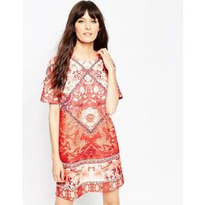 ASOS - T-Shirt-Kleid mit Kachelmuster - Mehrfarbig