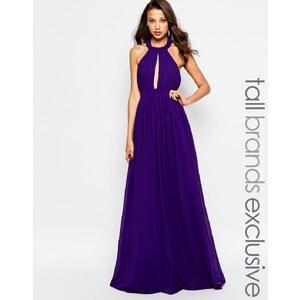 True Decadence Tall - Robe longue à goutte d'eau plongeante - Violet