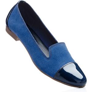 bpc selection Ballerines en cuir bleu chaussures & accessoires - bonprix