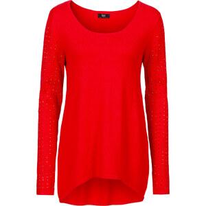 bpc bonprix collection Vokuhila Pullover, langarm in rot für Damen von bonprix
