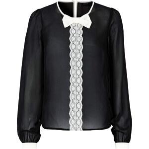 RAINBOW Bluse langarm figurbetont in schwarz (Rundhals) von bonprix