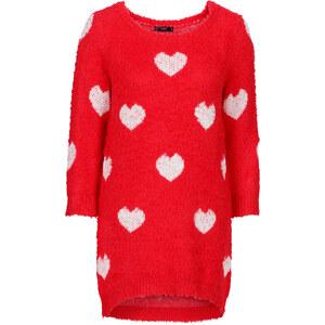 bpc bonprix collection Vokuhila Long-Pullover, 3/4- Arm in rot für Damen von bonprix