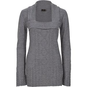 BODYFLIRT boutique Strickpullover in grau für Damen von bonprix
