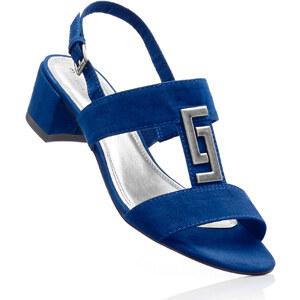 BODYFLIRT Sandalette mit 4 cm Blockabsatz in blau von bonprix