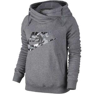 Nike RALLY FUNNEL-CAMO LOGO - Sweat à capuche - gris