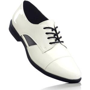 RAINBOW Chaussures à lacets blanc avec 2 cm platchaussures & accessoires - bonprix