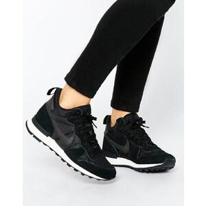 Nike - International - Mittelhohe schwarze Turnschuhe - Schwarz