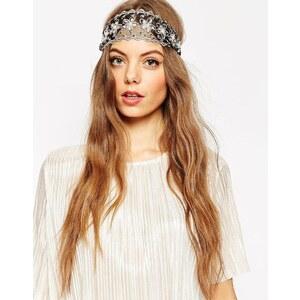 ASOS - Haarband aus Blumenspitze - Schwarz