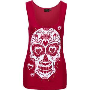 RAINBOW Top mit Print und Nieten ohne Ärmel in rot für Damen von bonprix