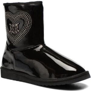 SALE - 30% - Love Moschino - Patent heart - Stiefeletten & Boots für Damen / schwarz