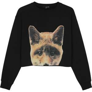 "Tally Weijl Sweat Noir ""Renard"""