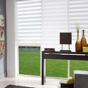 Madécostore Store : 45x190cm Store enrouleur tamisant ajoure blanc