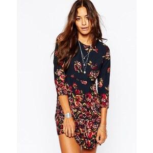 Abercrombie & Fitch - Kleid in A-Linie mit Blumen - Marineblaues Blumenmuster