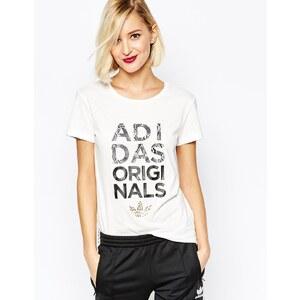 Adidas - T-shirt à logo animal - Blanc