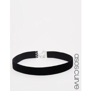 ASOS CURVE - Collier court basique en velours - Noir