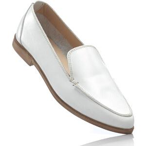 bpc selection Slippers en cuir blanc chaussures & accessoires - bonprix