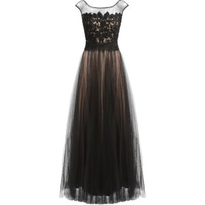 Luxuar Fashion Ballkleid schwarz/nude