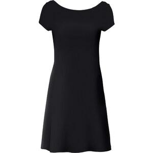 RAINBOW Shirtkleid/Sommerkleid halber Arm in schwarz (U-Boot-Ausschnitt) von bonprix