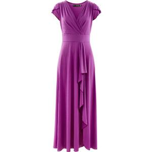 bpc selection Shirtkleid mit Volant/Sommerkleid kurzer Arm in lila von bonprix