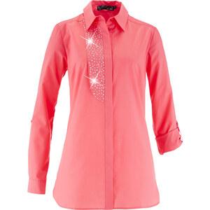 bpc selection Bluse mit Ziersteinen langarm in pink von bonprix