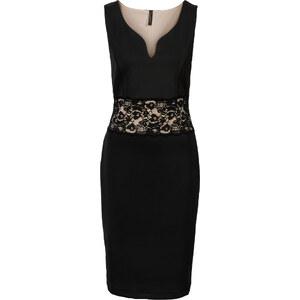 BODYFLIRT boutique Kleid mit Spitze in schwarz von bonprix