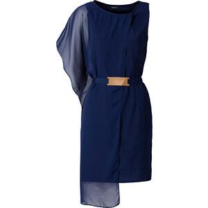 BODYFLIRT Kleid/Sommerkleid in blau (Rundhals) von bonprix