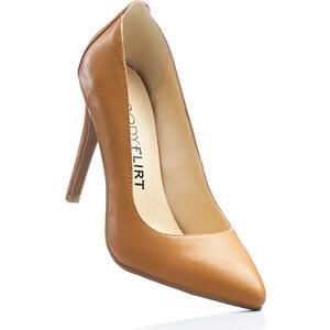BODYFLIRT Escarpins marron avec 10 cm haut talonchaussures & accessoires - bonprix