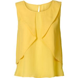 BODYFLIRT Top blouse jaune femme - bonprix