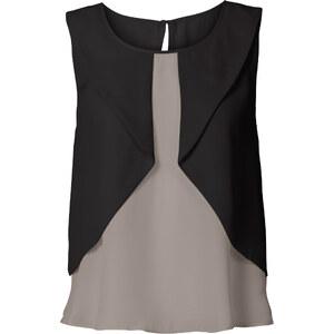 BODYFLIRT Top blouse gris femme - bonprix