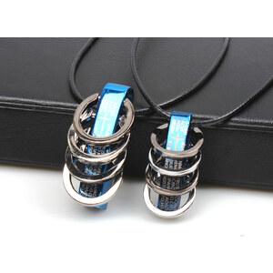 Lesara 2er Set Partnerkette Anhänger mit Ringen