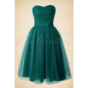 Bunny 50s Tamara Party Dress in Deep Teal