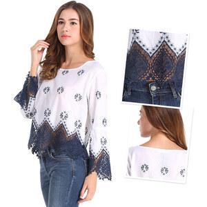 Lesara T-shirt avec ourlet crocheté