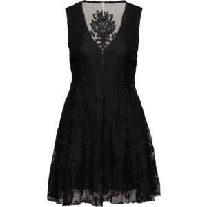 Free People Seidenkleid Embroidered Mesh Reign Over Me Dress
