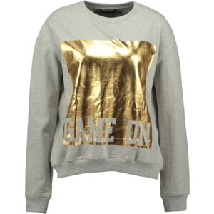 Sally & Circle Sweater mit goldenem Print