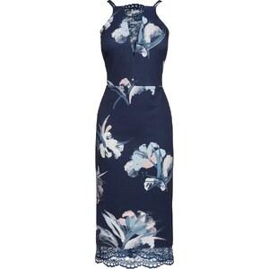 NEXT Figurbetontes Kleid Mit Floralem Muster Und Spitzendetails