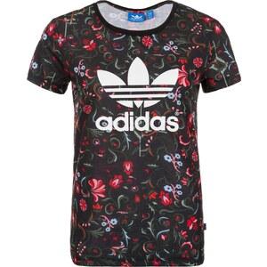 ADIDAS ORIGINALS adidas Floral Allover Print Trefoil T Shirt Damen