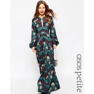 ASOS PETITE - Robe longue style caftan à détail goutte d'eau et imprimé fleuri - Multi