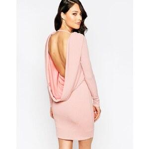 Club L Lipsy - Robe courte en tissu pailleté à dos bénitier - Crème