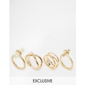 Designsix - Multipack schlichte Ringe - Gold