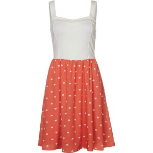 mint&berry Sommerkleid off white/coral