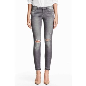 H&M Jean Super Skinny Low Ripped