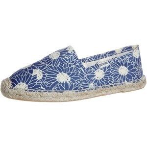 Soludos FLORAL WOOD BLOCK ORIGINAL Espadrilles blue white