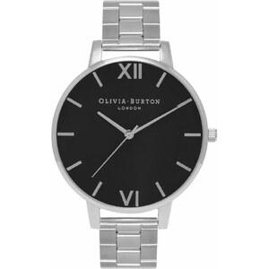 Olivia Burton Big Dial Bracelets Black Silver Damenuhr OB15BL25