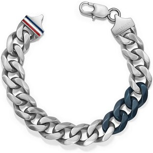 Tommy Hilfiger Armband mit blauem Emaille, »Men's Casual, 2700681«