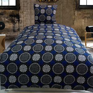 Lesara Ornamentale Mikrofaser-Bettwäsche Blau-Schwarz-Weiß