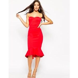 ASOS - Pephem - Trägerloses mittellanges Kleid