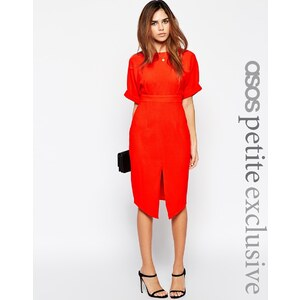 ASOS PETITE - Wiggle - Kleid mit Schlitz vorne - Rot